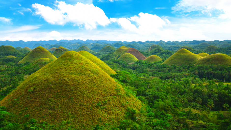 The Chocolate Hills in Bohol, Philippines