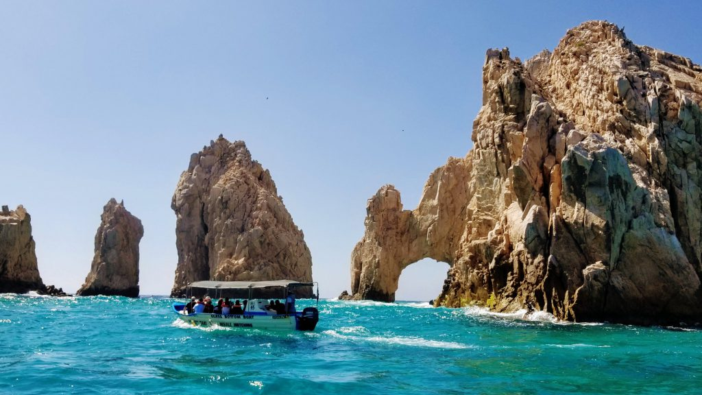 Glass-bottom boat in Los Cabos