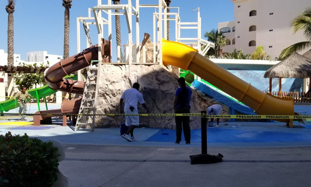 Play structure at Hyatt Ziva Los Cabos
