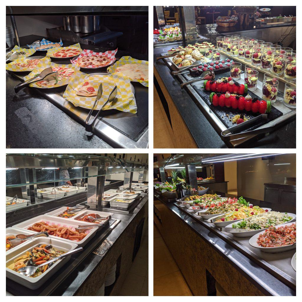 Food buffets at Hyatt Ziva Los Cabos
