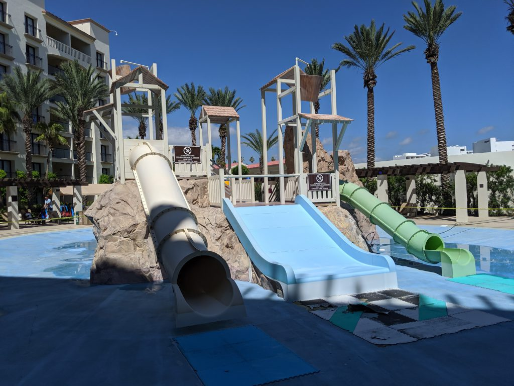 Play structure at Hyatt Ziva Los Cabos- best Cabo resorts for families