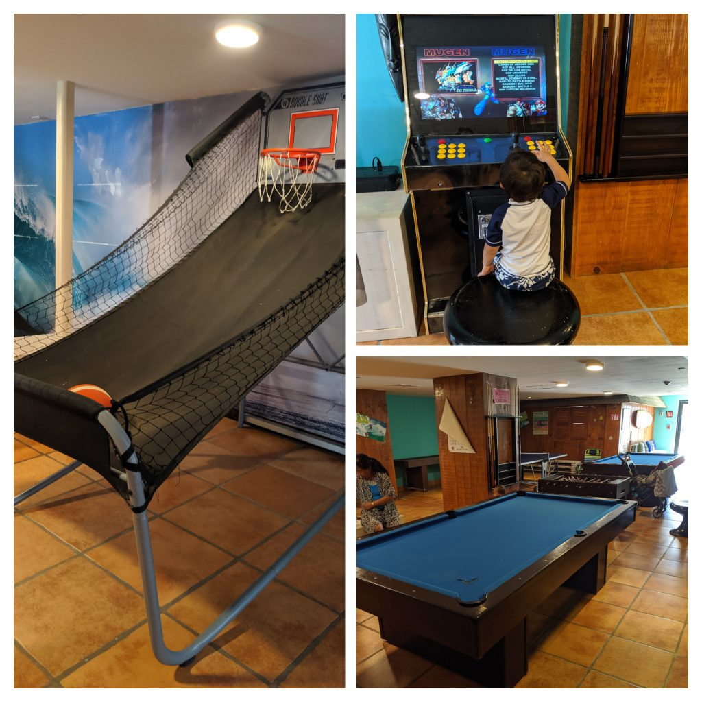 Game room at Hyatt Ziva Los Cabos- best Cabo resorts for families