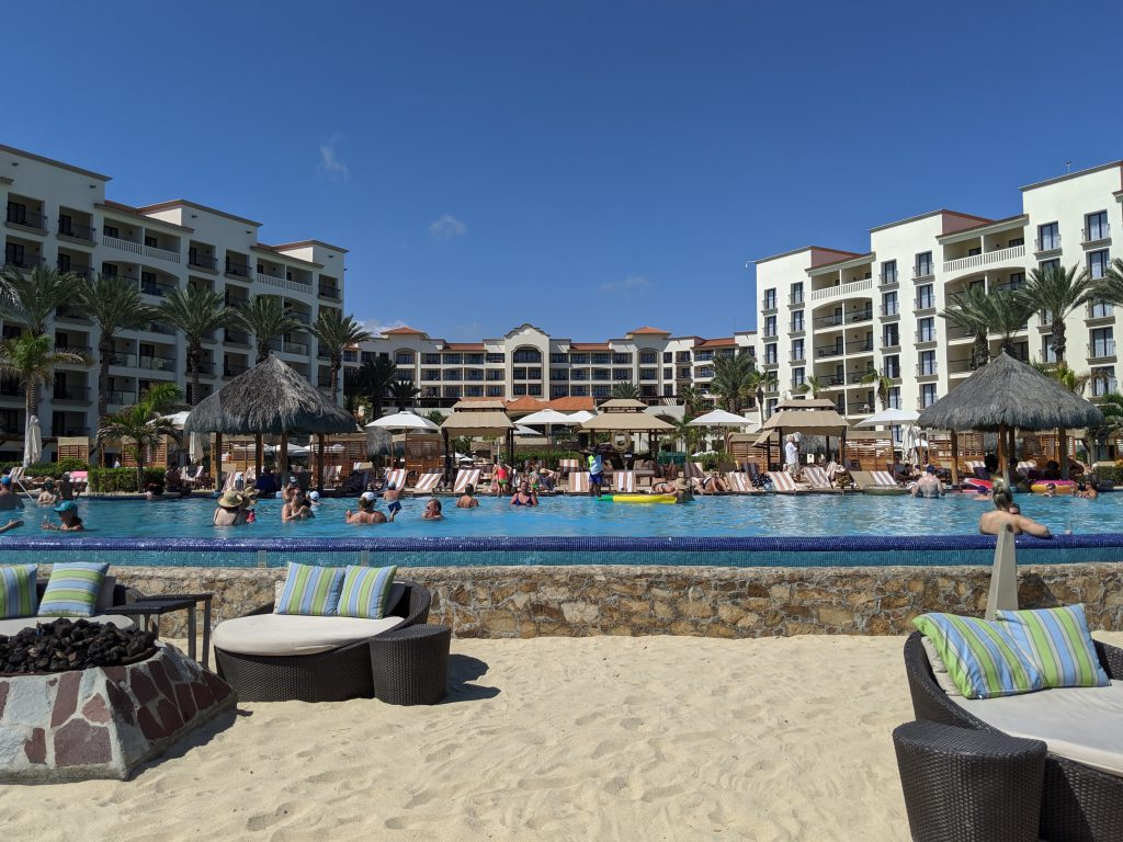 Infinity pool at Hyatt Ziva Los Cabos- best Cabo resorts for families