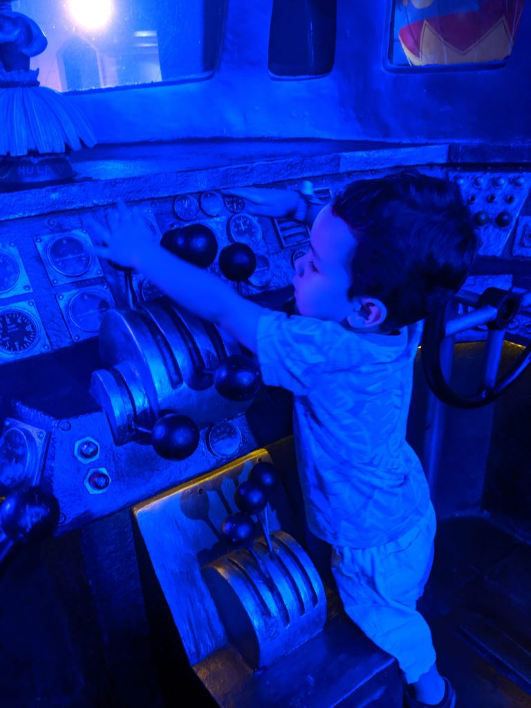 Child playing on a plane at DreamPlay Philippines