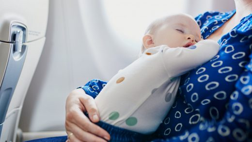 Jet lag in babies and toddlers