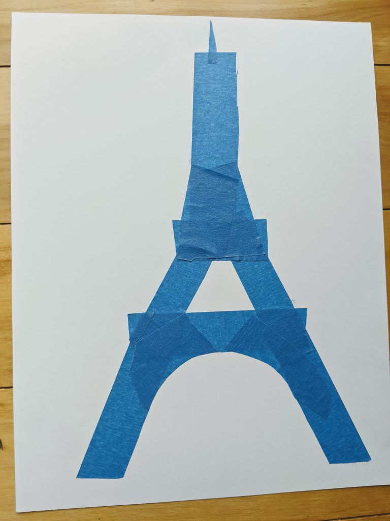 The Eiffel Tower in tape