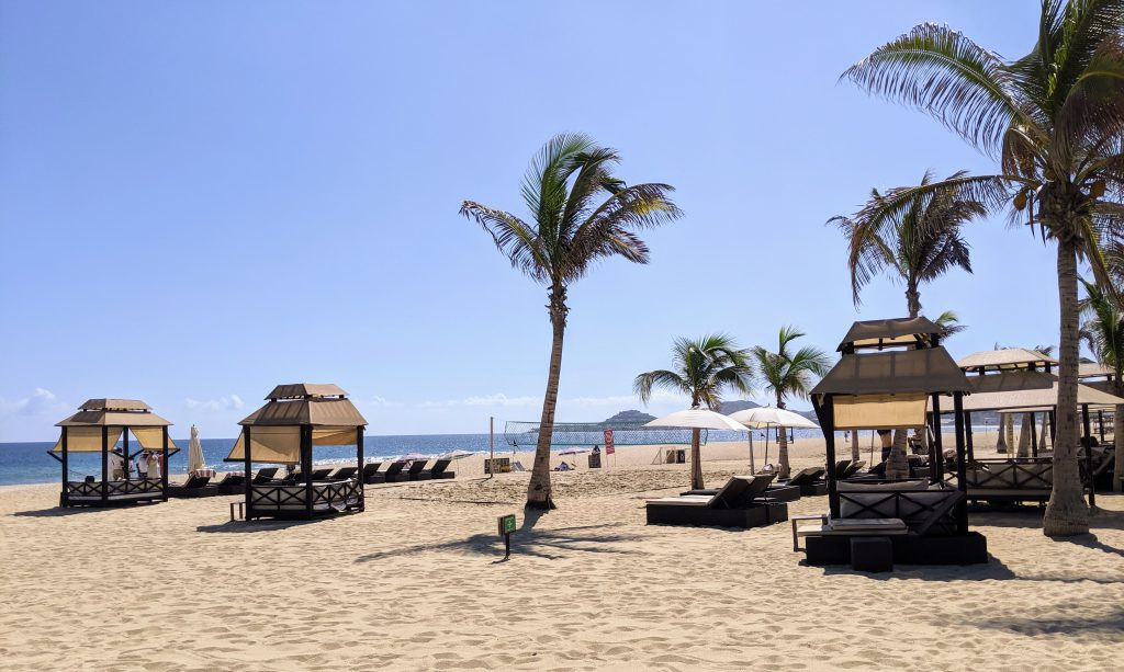 The beach in front of Hyatt Ziva Los Cabos- best Cabo resorts for families