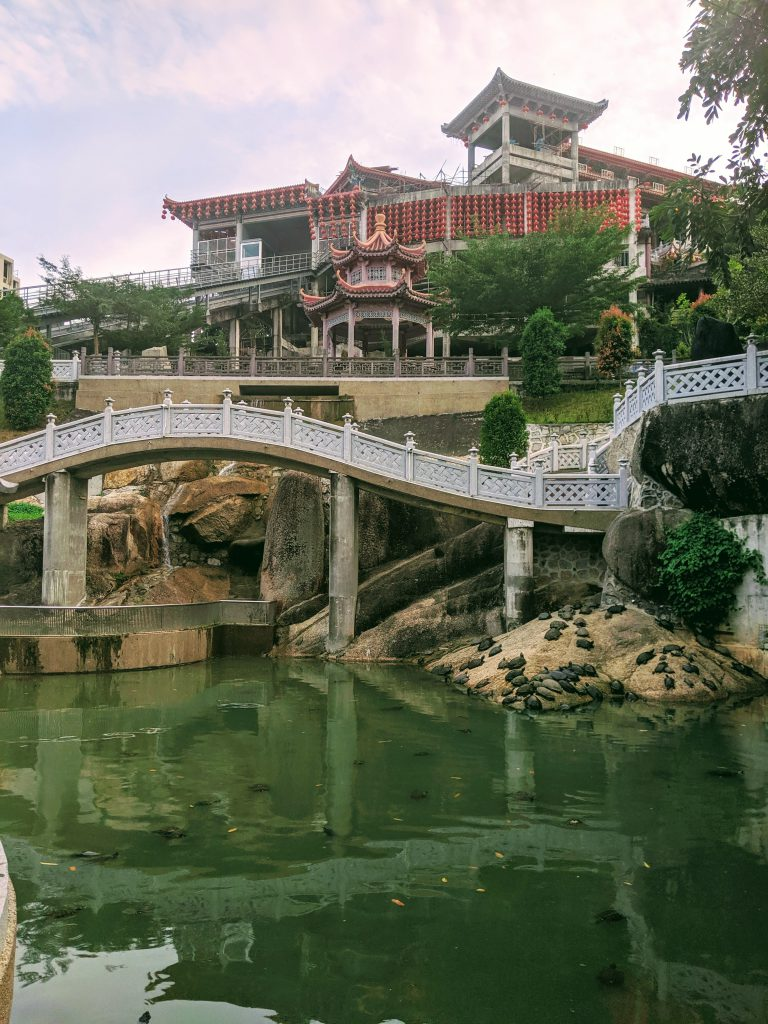 The tortoise pond at Kek Lok Si Temple in Penang, Malaysia