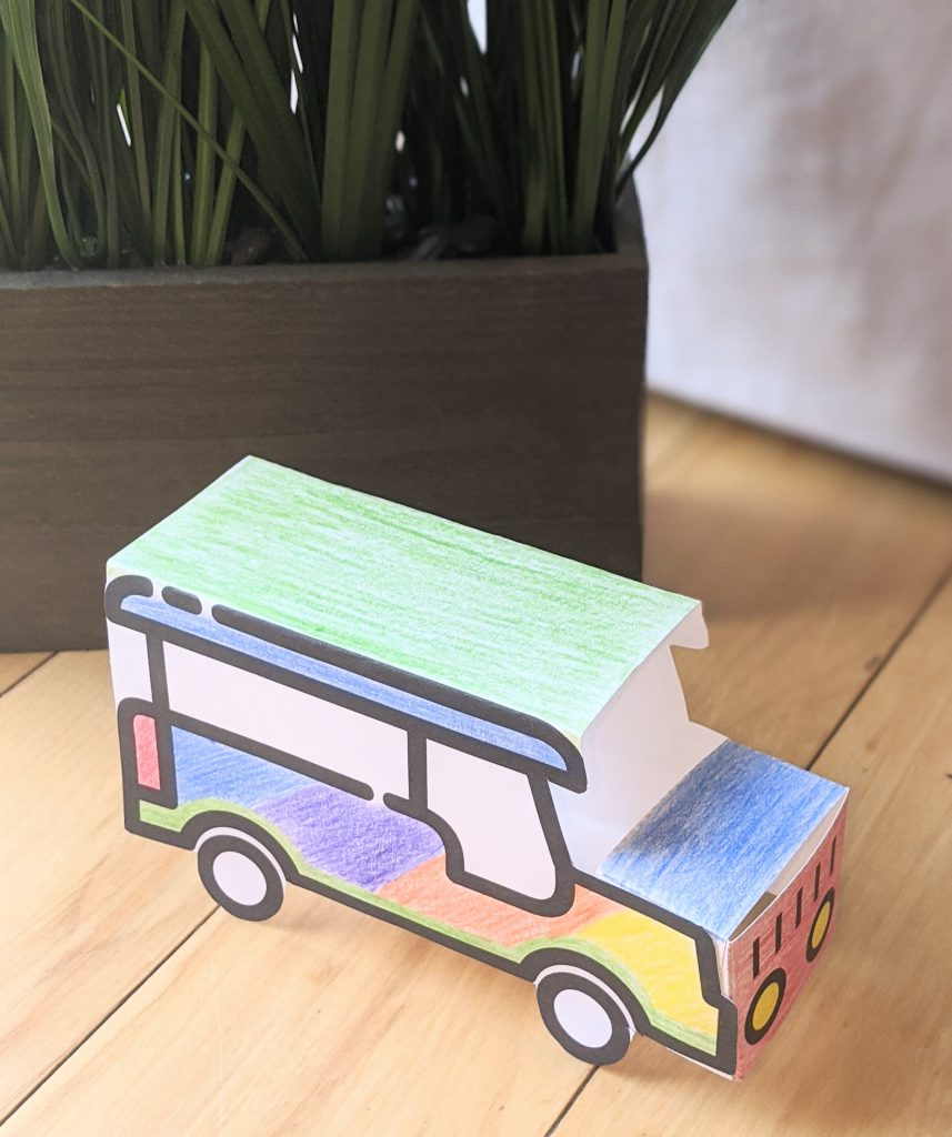 Completed jeepney craft