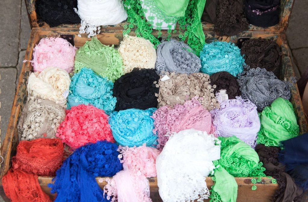 Burano lace scarves