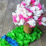 Cherry Blossom Tissue Paper Craft