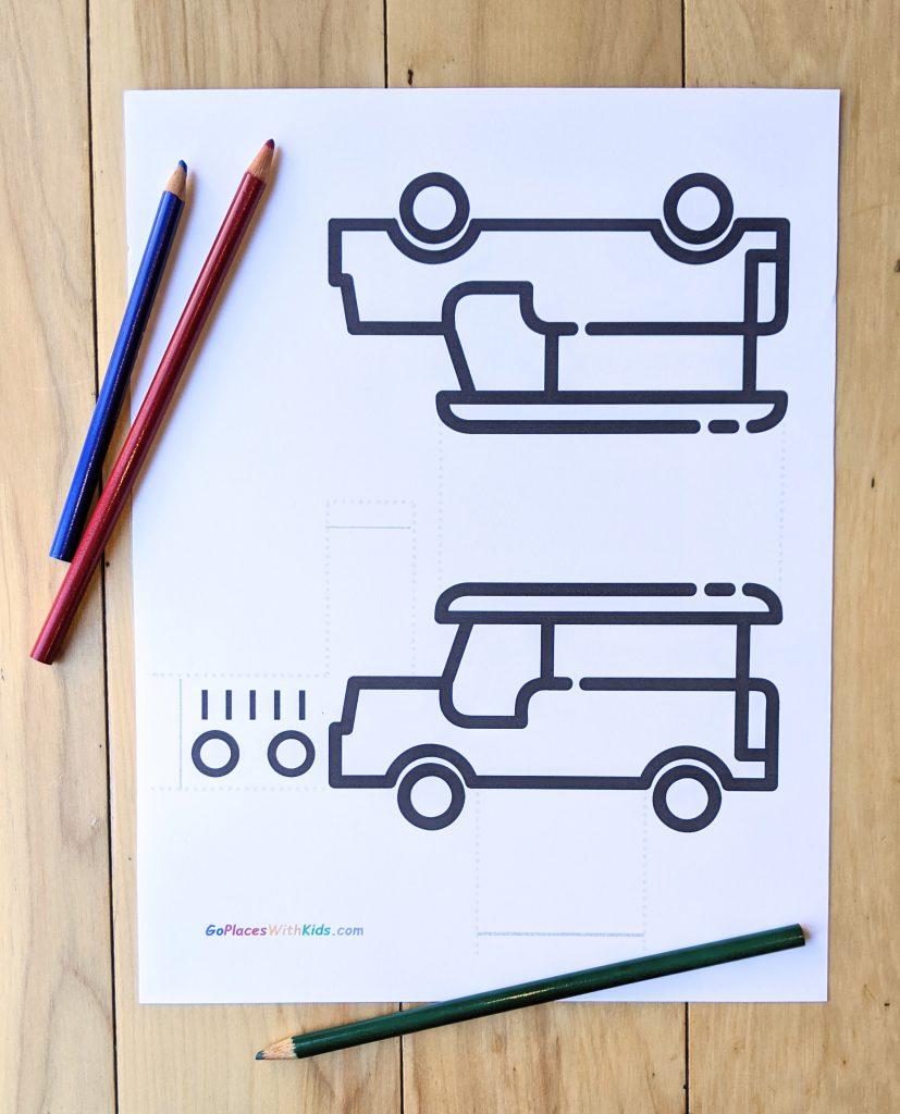 Jeepney craft printable