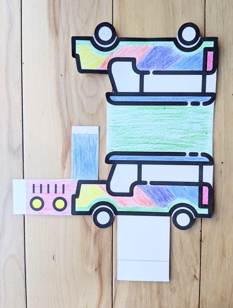 Jeepney printable craft