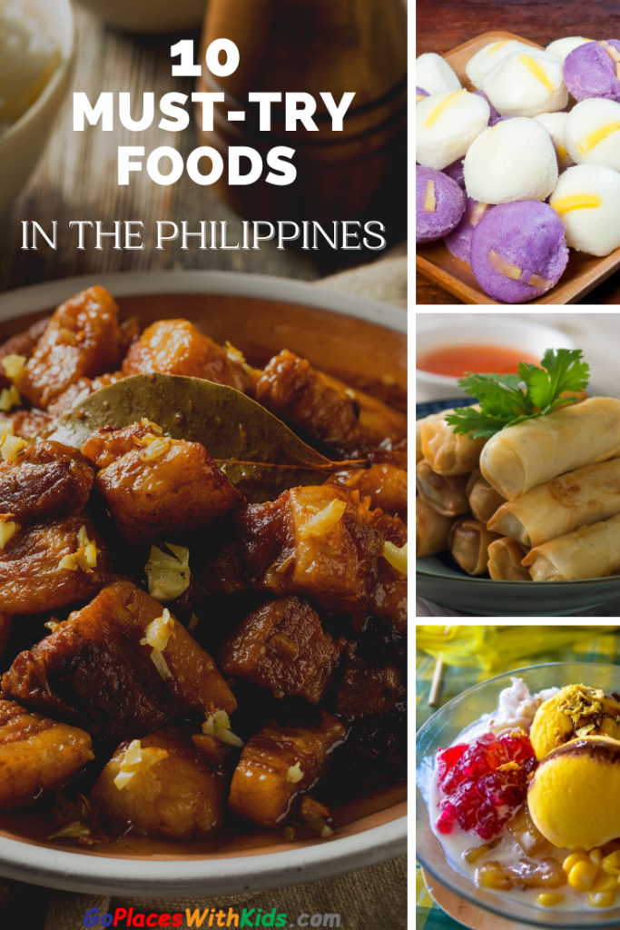 Pinterest pin of the top 10 filipino foods