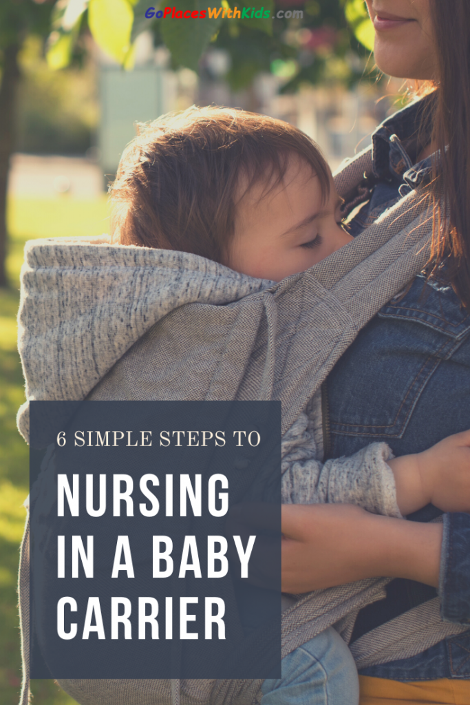6 simple steps to nursing in a baby carrier