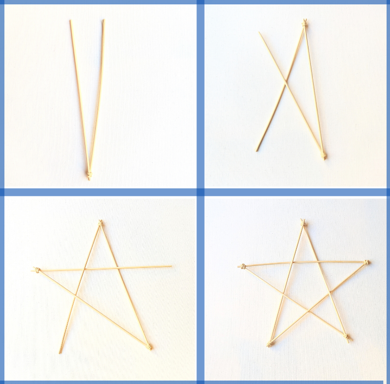 Step-by-step guide to attaching the bamboo skewers for the parol craft