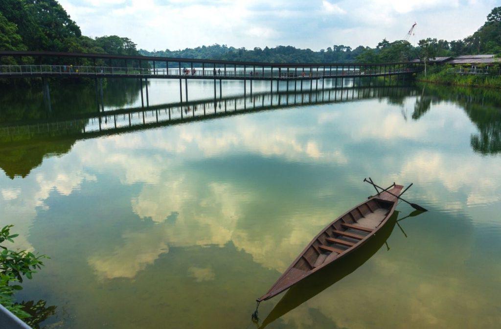 The bridge to the River Safari boat ride