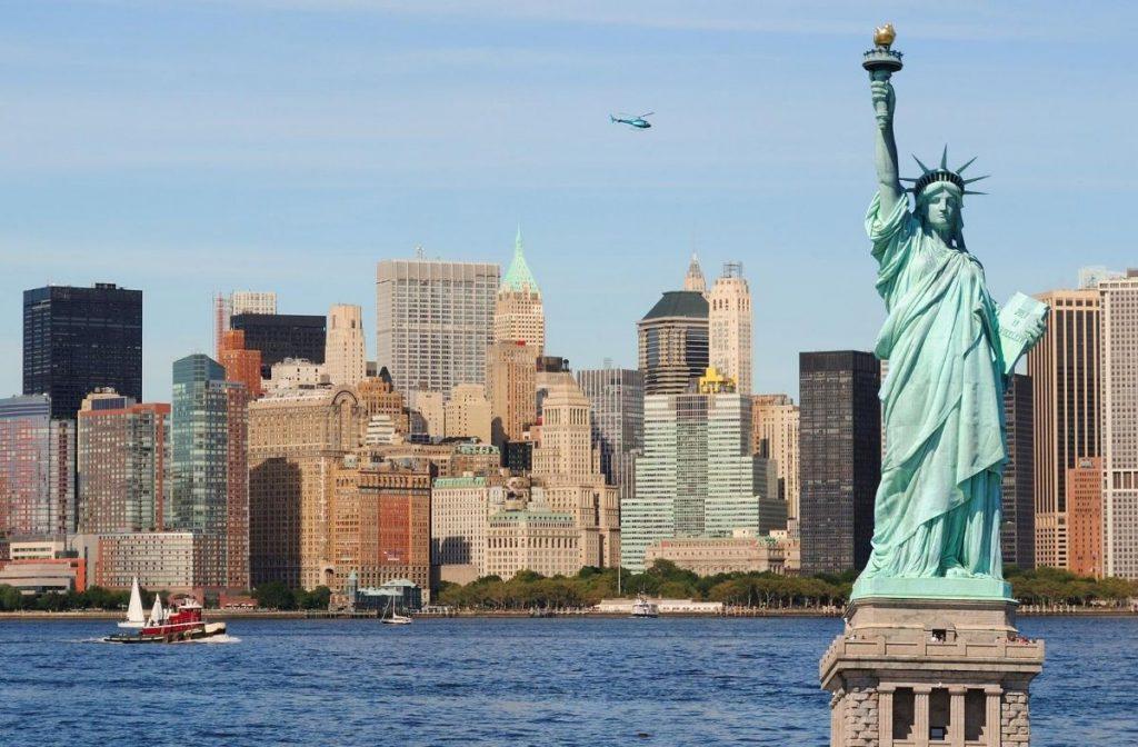 New York City skyline- New York City with a baby
