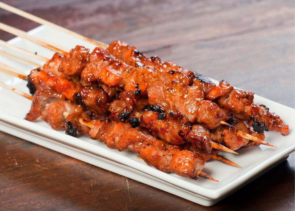 Picture of Filipino Barbecue, first on the list of top 10 filipino foods