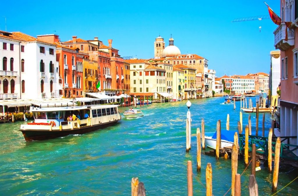 A vaporetto in Venice