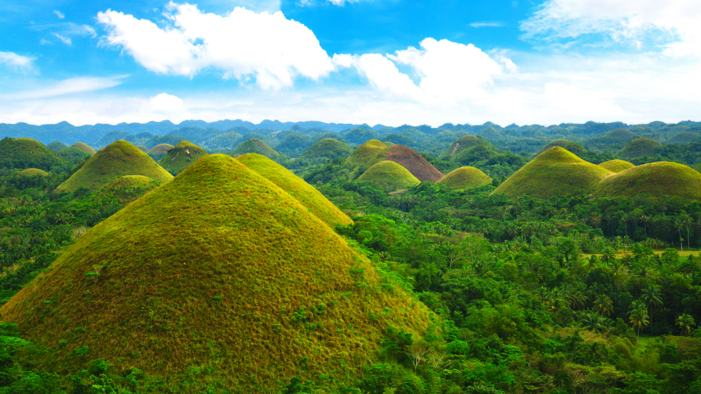 Chocolate Hills in Bohol Philippines
