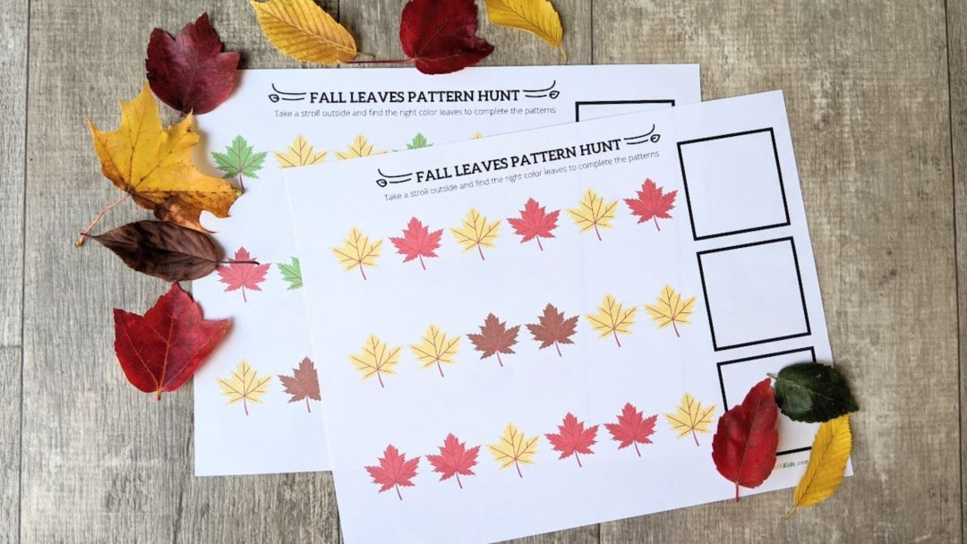 Fall Leaf Patterns- With Printable - Go Places With Kids