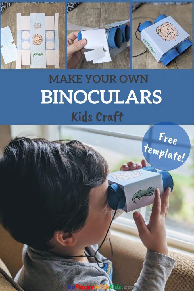 Make your own toilet paper tube binoculars