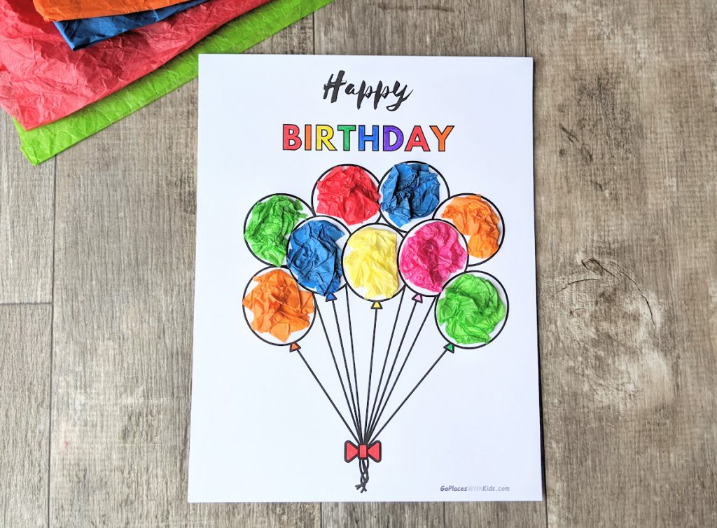 Completed happy birthday poster