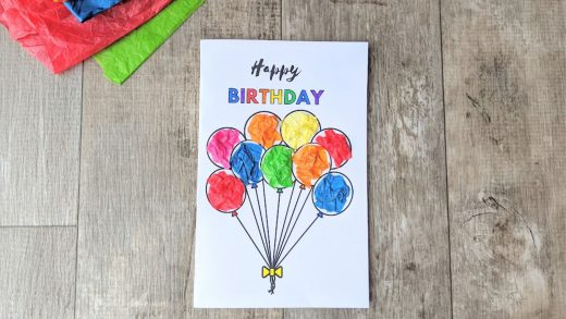 Birthday card kids craft