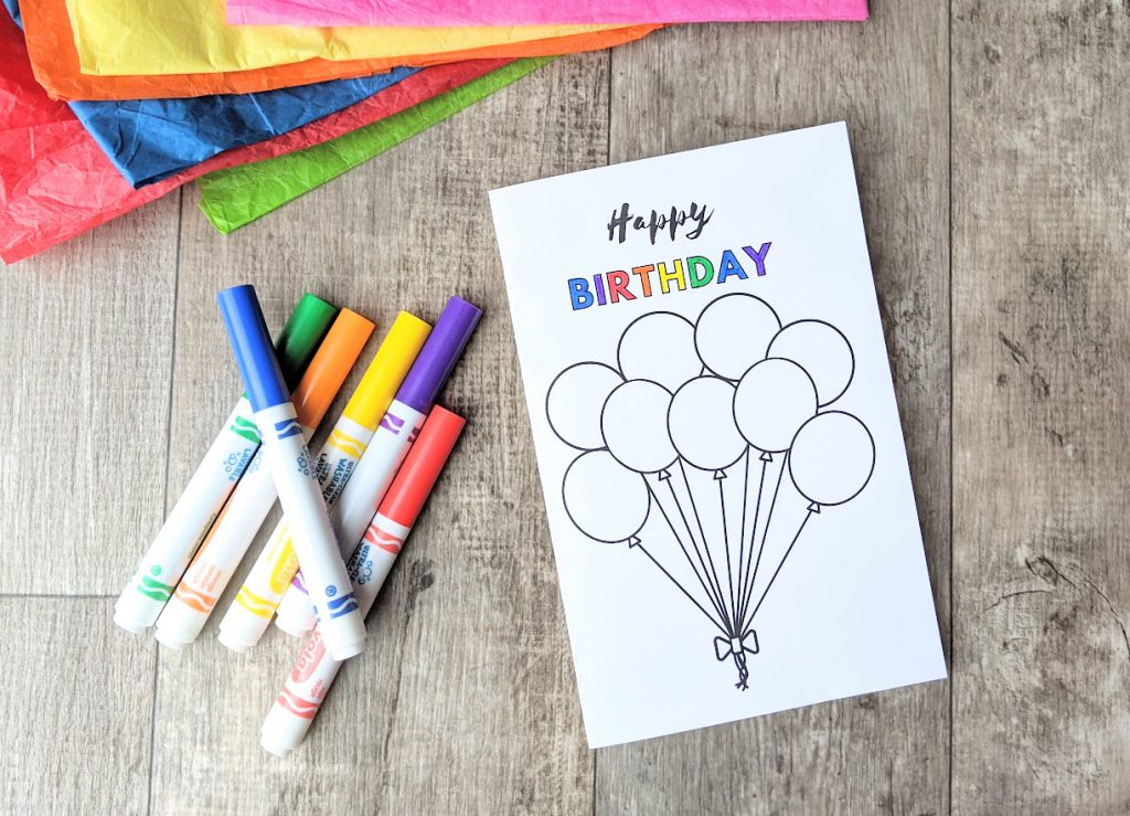 Color in the letters of birthday