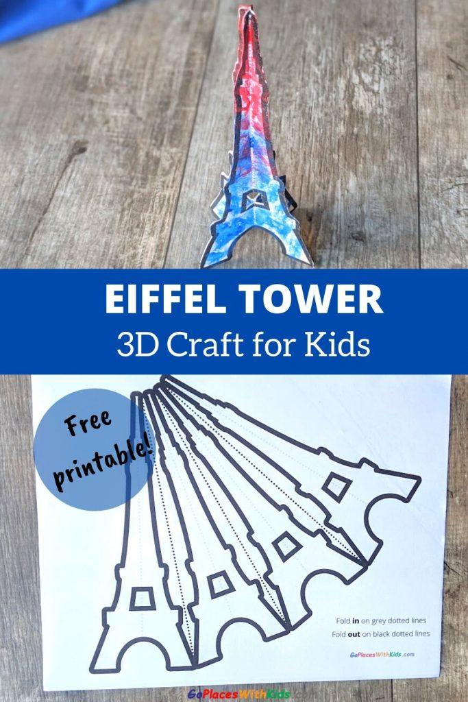 3D Eiffel Tower craft for kids