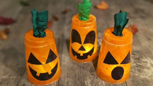 Jack-o'-lantern kids craft