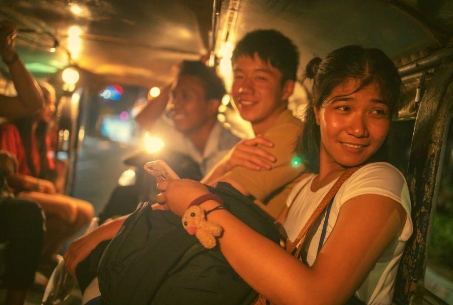 People in a jeepney