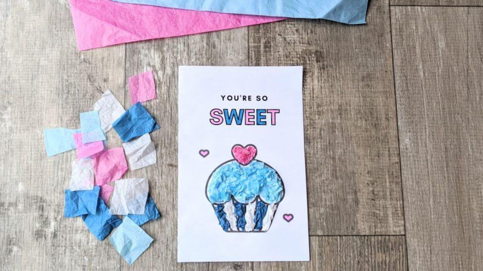 Valentine's card kids craft