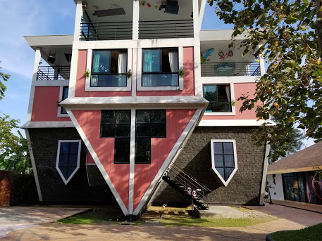 Baan Teelanka, or the Upside Down House, is a fun place to visit in Phuket with kids