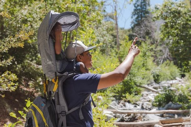 The OE Hiking Carrier is one of the best toddler carriers for travel