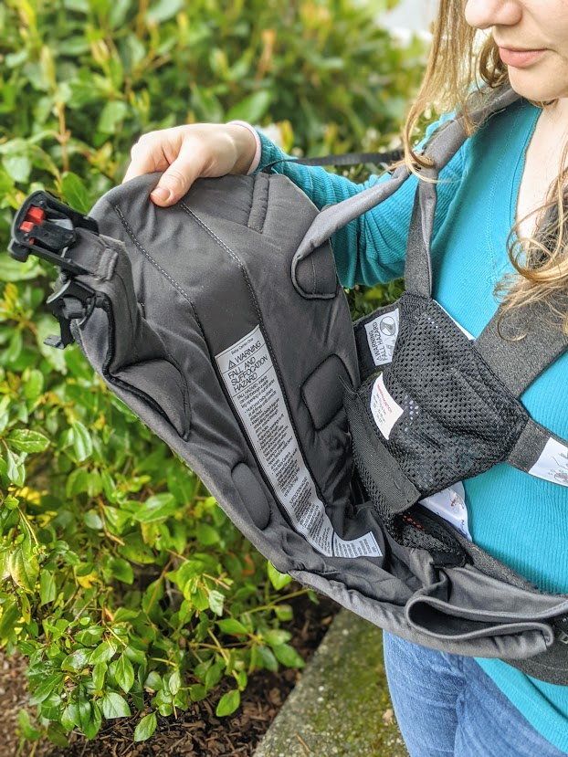 Harness on the Baby Bjorn carrier