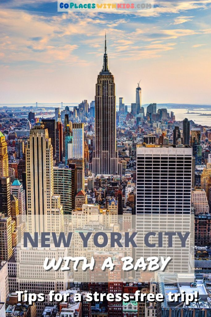 New York City with a baby pinterest pin