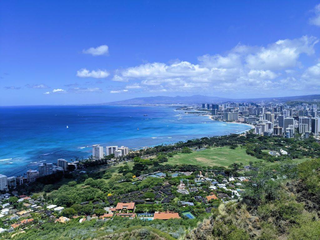 The view of Honolulu from Diamond Head