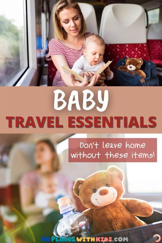Baby travel essentials pinterest pin