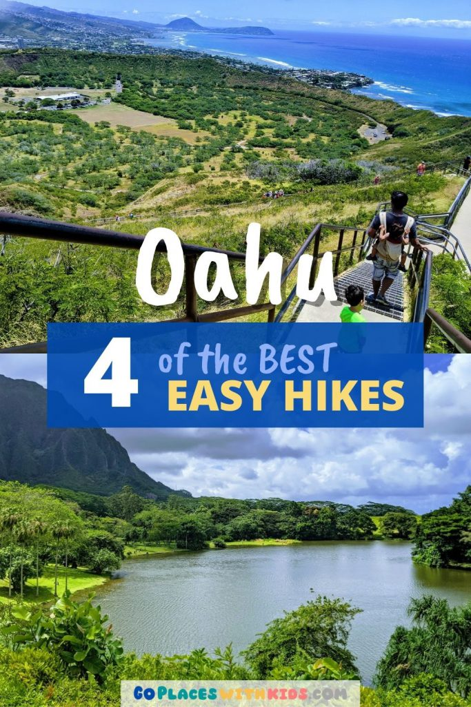 Easy Hikes on Oahu Pinterest pin