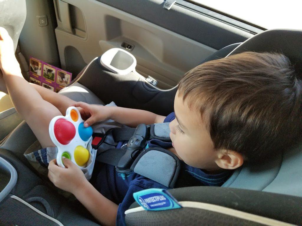 Dimple fidget popper toy- toddler road trip activities
