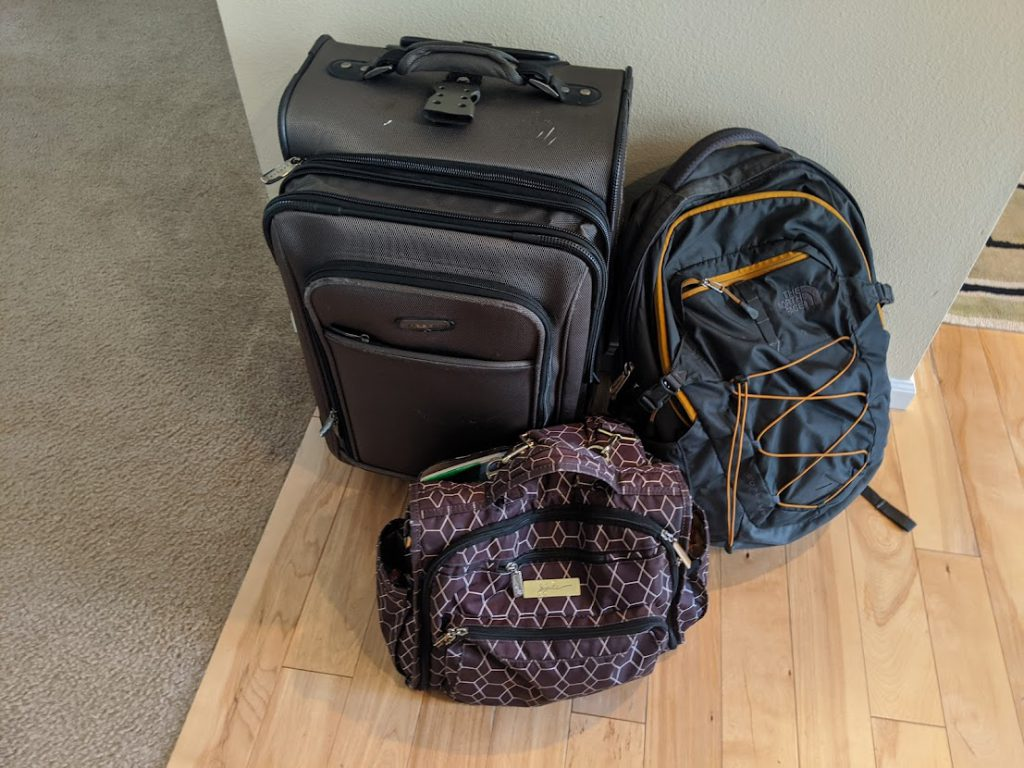 Diaper bag with luggage- baby travel essentials