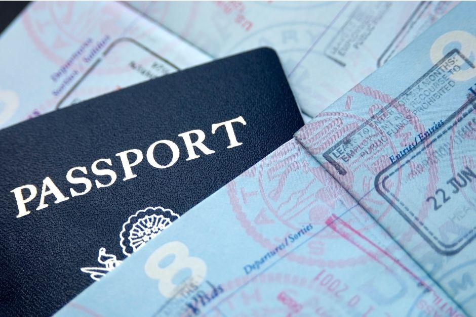 A picture of a passport- baby travel essentials