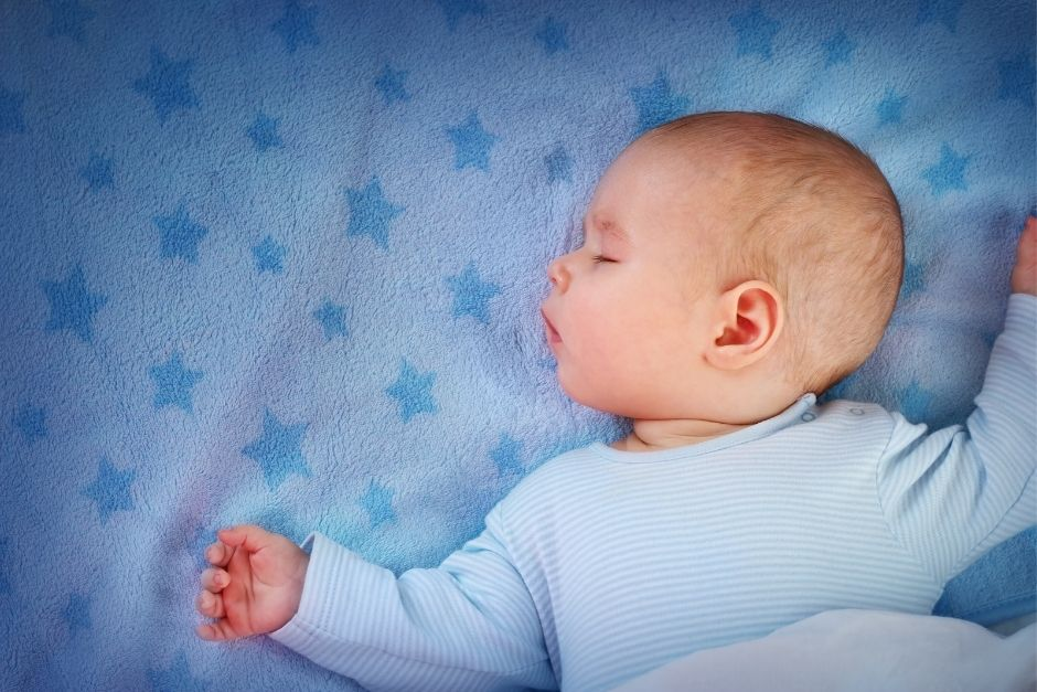 Sleeping baby- baby and toddler jet lag