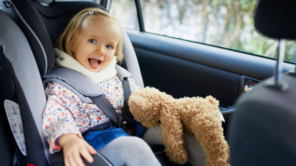 Toddler in the car