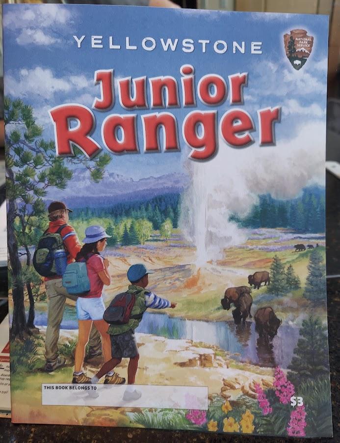 Yellowstone Junior Ranger book- Yellowstone with kids
