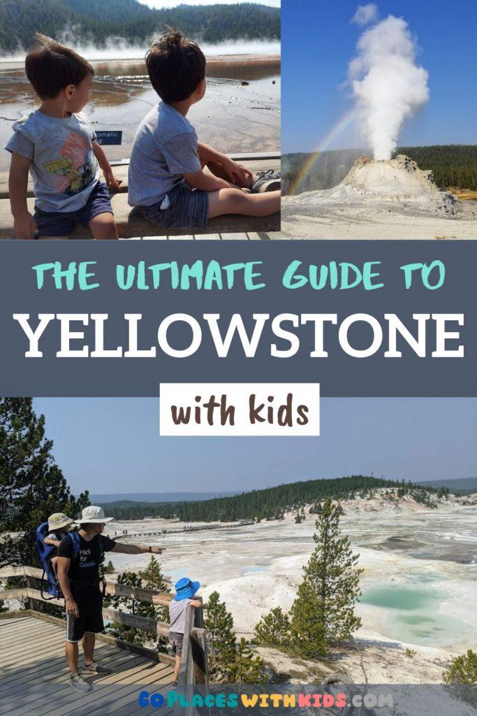 Yellowstone with kids Pinterest pin